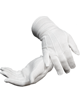 White Long Sure Grip Gloves