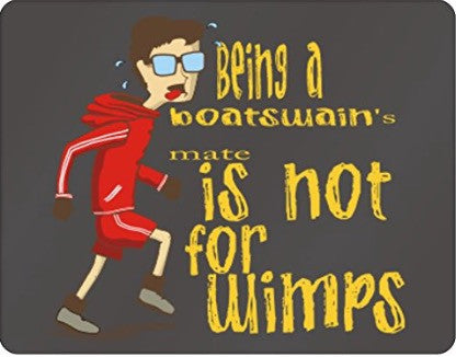 Being a Boatswain's Mate is not for wimps Plastic Acrylic
