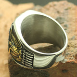 Chiefs Stainless Steel USN Ring