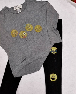 Emoji ballon face legging