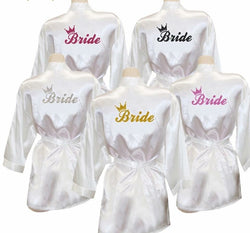 Bride robes silk - white