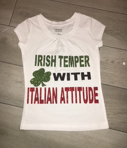 Irish temple with Italian attitude st Patrick's day tops