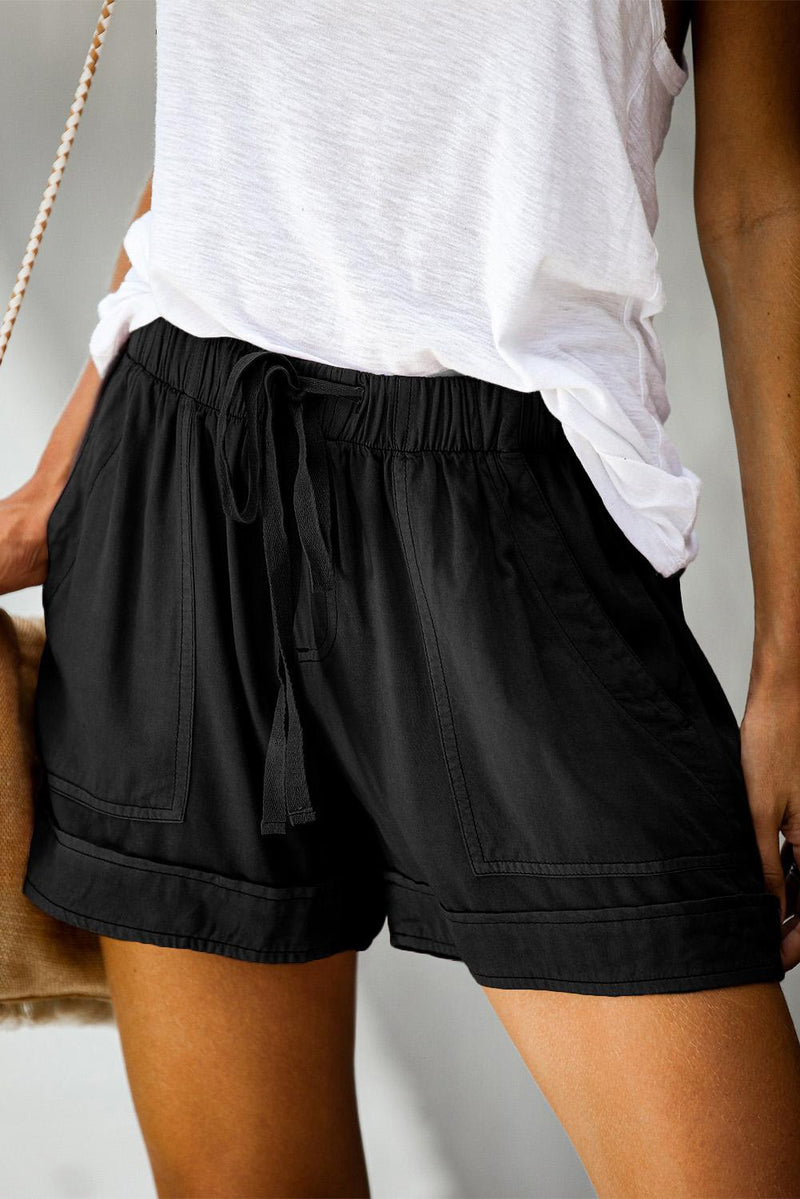 Pocketed Tencel Shorts