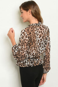 Leopard Twist Top