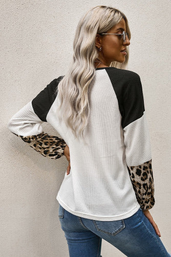 White thermal twist front leopard