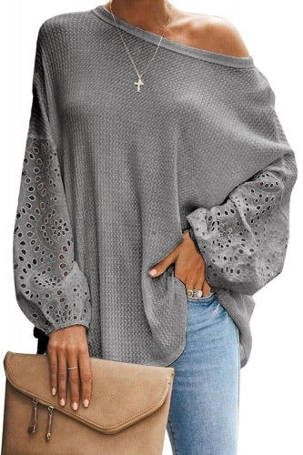 Thermal Loose Casual Puffy Sleeve Top - 3 colors