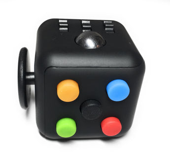 Fidget Cube - Multicolor Rainbow on Black. Stock in Toronto and Vancouver