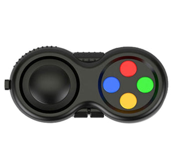 9 Side Fidget Pad - Rainbow on Black - IN STOCK