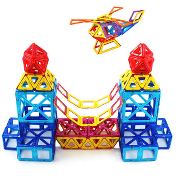 Magnetic Building Blocks Models & Building Toy Magnet Plastic Technic Bricks. Brain Development, Learning & Educational Toys For Children