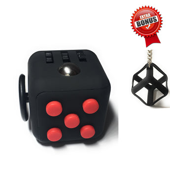 Fidget Cube - Red on Black. Stock in Toronto and Vancouver