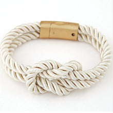 braided rope bracelet magnetic clasp with bow