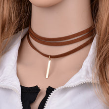 Brown Multilayer Torques Choker Necklace