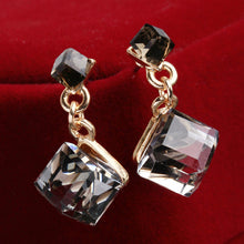 Crystal Square Crystal Dangle Earring