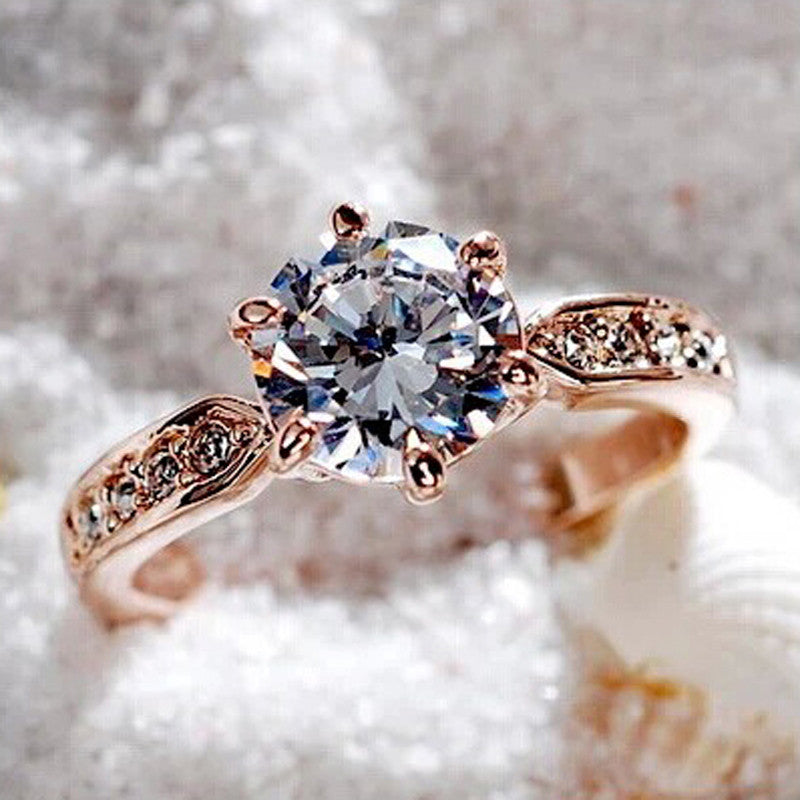 Rose gold plated Engagement rings