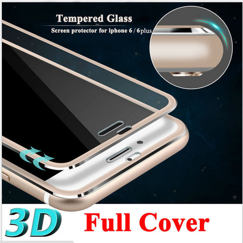 3D Curved Edge full cover Tempered Glass For iPhone 6, 6S, 7 Plus 4.7