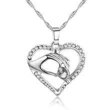 Mother Daughter Heart Pendant