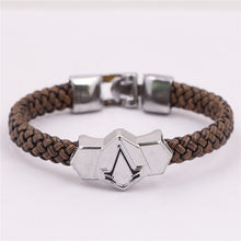 Assassins Creed Sheet Titanium Bracelets Braided Leather Bracelet