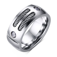 Stainless Steel  Ring With Wire Cubic Zirconia