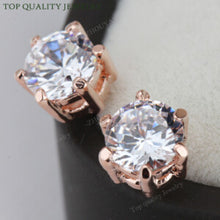 Rose Gold/Platinum Plated Crystal Stud Earrings