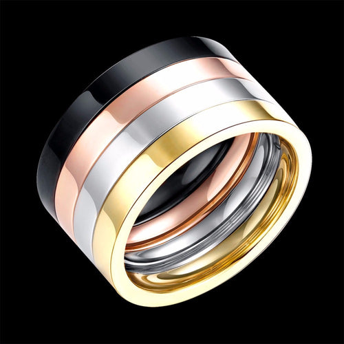 4 Layers Ring SET Rose Gold Plated