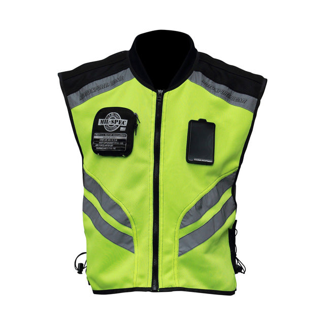 Motorcycle Reflective Safety Vest High Visibility Jacket
