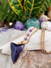 Gold Plated Amethyst Necklace