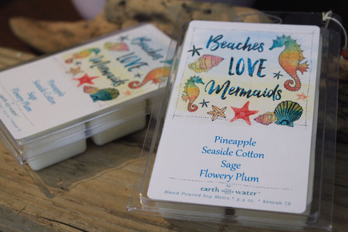 Beaches Love Mermaids 6-pack Jumbo Soy Wax Melts - Pineapple & Seaside Cotton