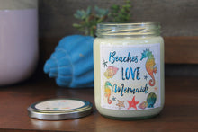 Beaches Love Mermaids 16 oz Soy Candle - Island Hibiscus