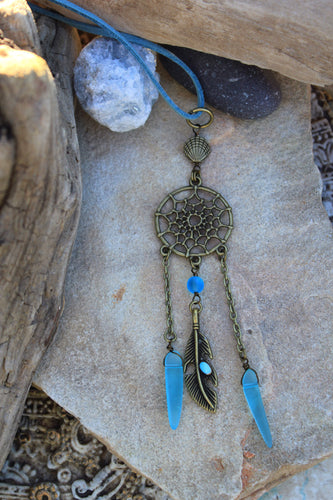 Boho Beach Dreamcatcher Rearview Mirror Accessory- Car Charm