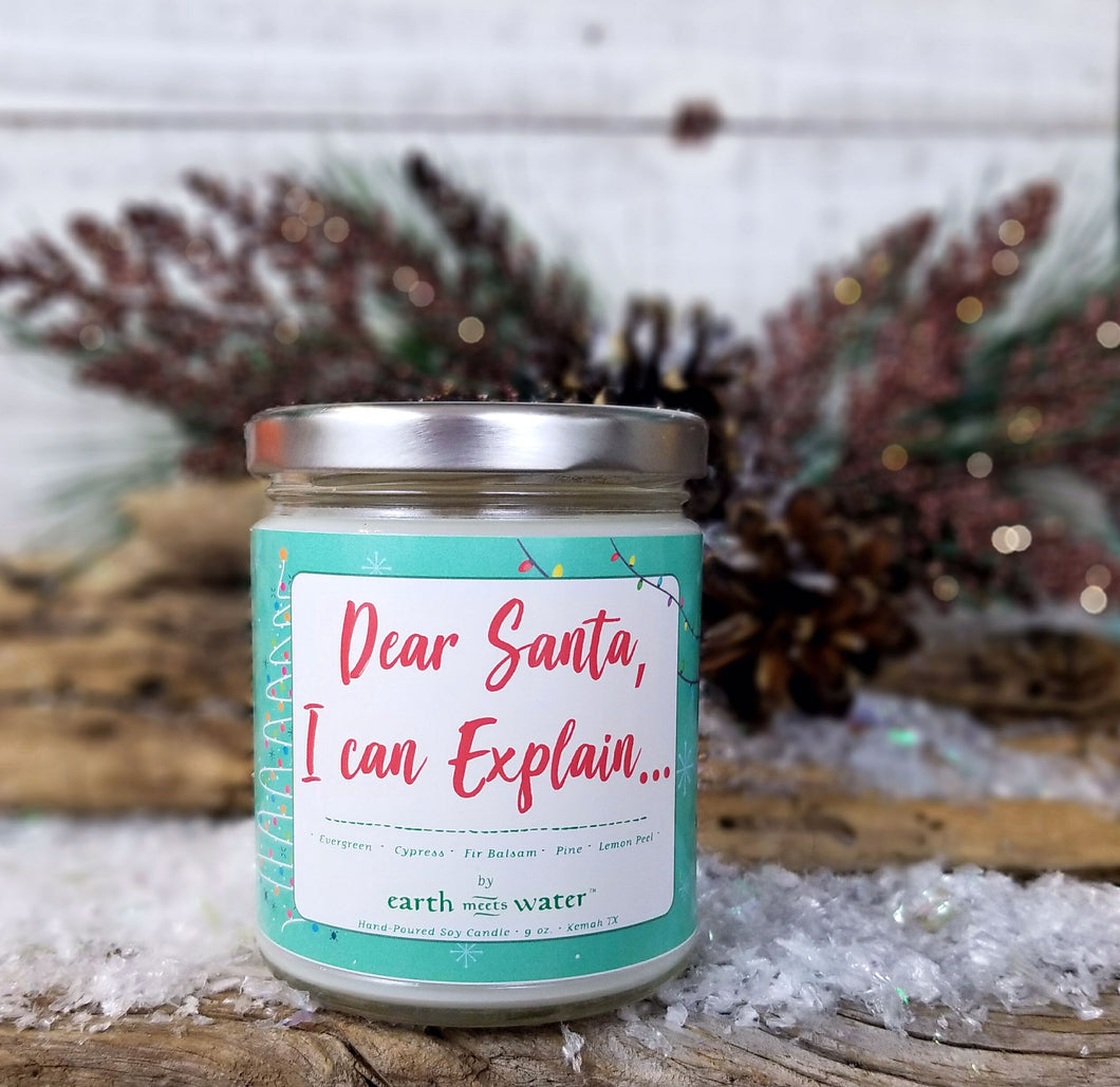 Dear Santa I can Explain - 9oz Soy Candle