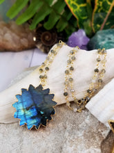 Labradorite Sun Beaded Necklace