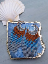 Moon Child Beaded Fringe Earrings
