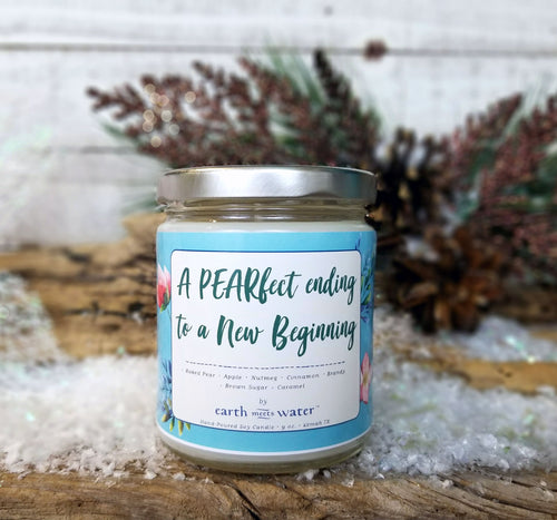 A PEARfect ending to a New Beginning / 9 oz Soy Candle