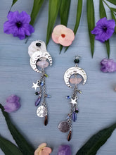 Silver Moon/Pink Crystal Car Charm