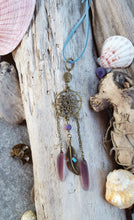 Purple Boho Beach Dreamcatcher Rearview Mirror Accessory - Car Charms
