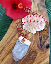 Ruby Red Quartz Beaded Necklace