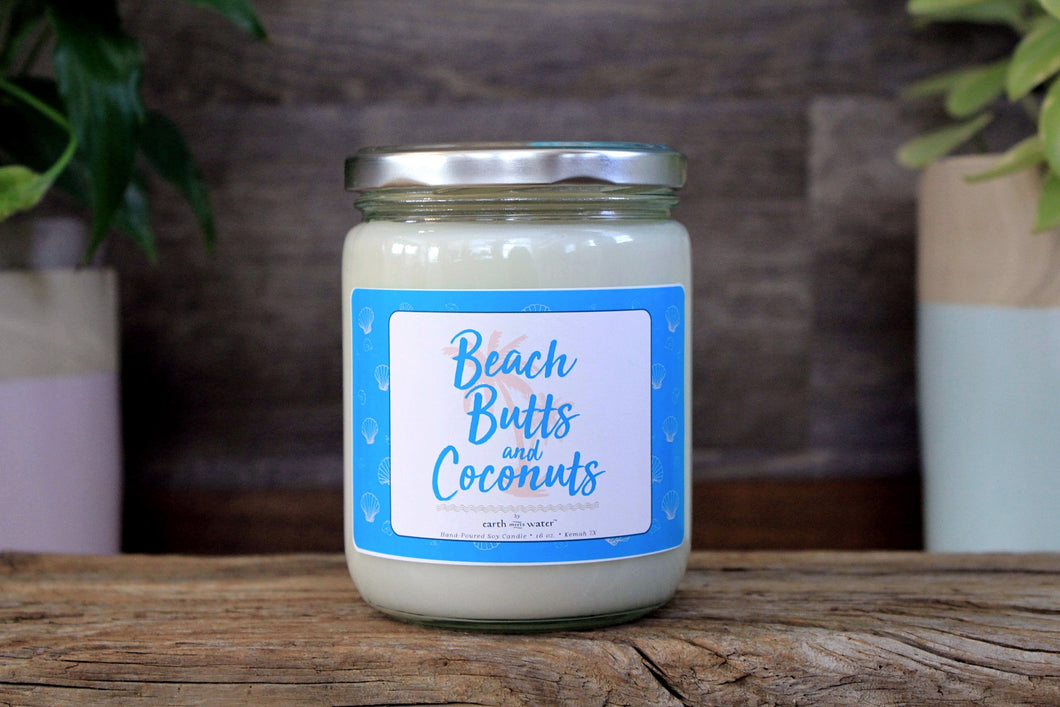 Beach Butts and Coconuts 16 oz Soy Candle