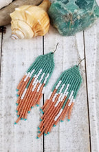 Starfish Wishes Beaded Fringe Earrings