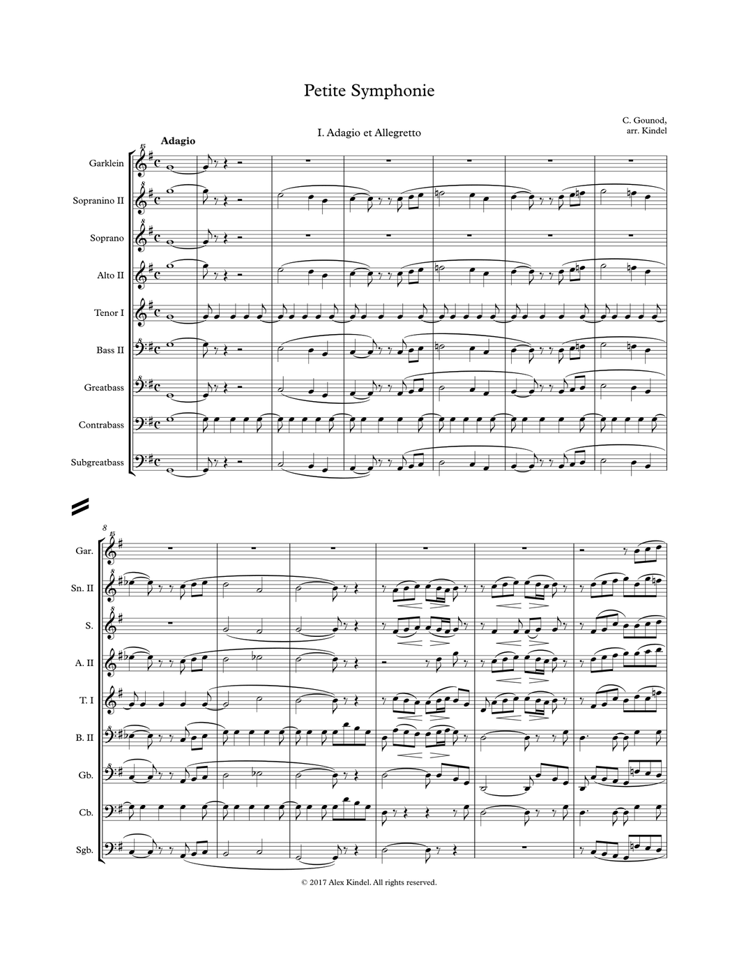 Gounod, C.: Petite Symphonie, for recorders