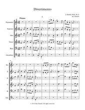 Haydn, J.: Divertimento, Hob. II:15, for recorders