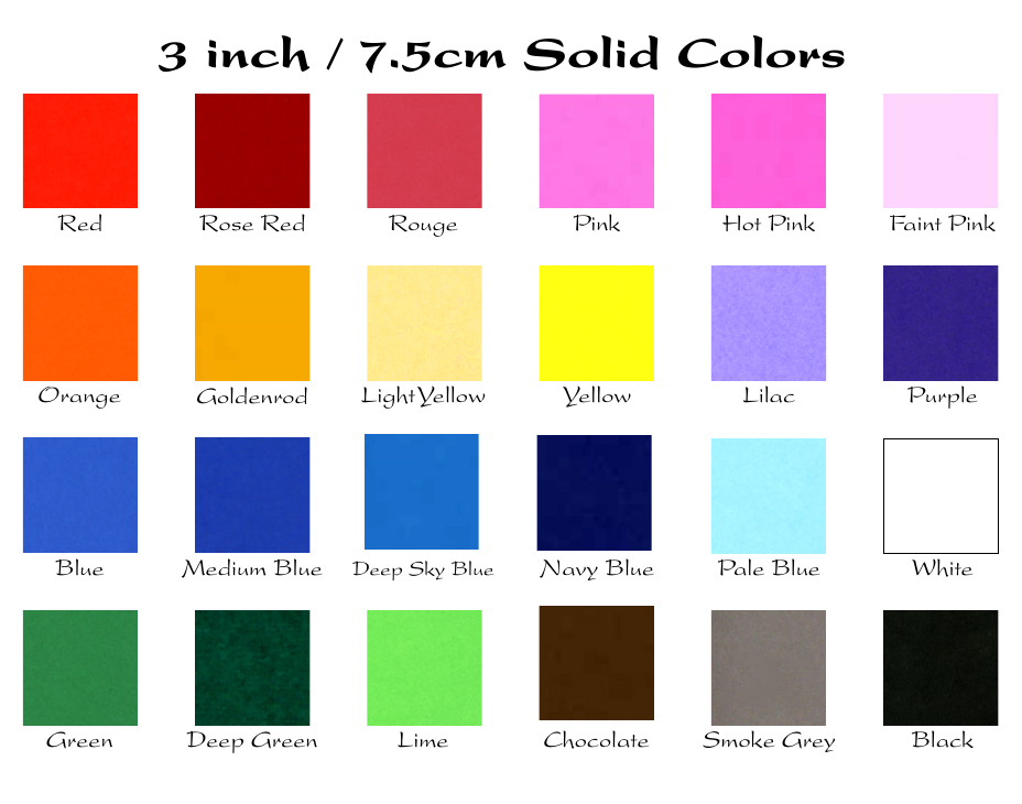 3-inch color chart