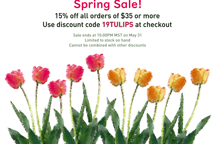 Sale 15% off all orders over $35