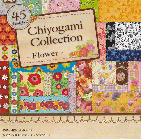 "Chiyogami Collection Flower 6"" 45 Pattern 180 Sheets"