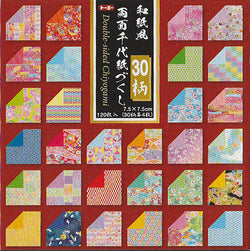 "Chiyogami Collection Double-side 3"" 30 Pattern 120 Sheets"