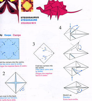 Origami Dinosaurs, a list of online, origami-dinosaur diagrams ... | 350x317