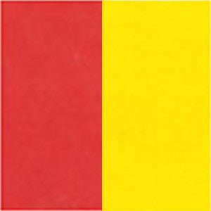 "Double-Sided 6"" 100 Sheets Red/Yellow"