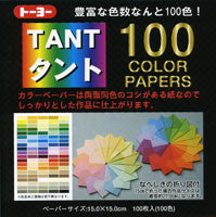 "TANT Double-Sided Assorted 6"" Same Color 100 Sheets"