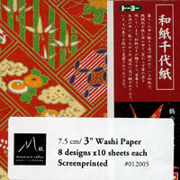 "Mini red washi 3"" 80 Sheets"