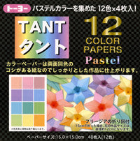 "TANT Double-Sided Assorted 6"" Pastels 48 Sheets"