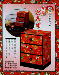 Japanese Box-Making Kit--3 drawer, square front II